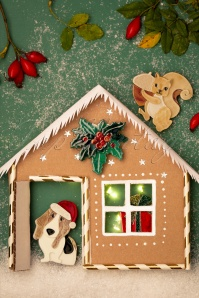 Erst Wilder 33054 Brouche Dog Gingerbread House Christmas 20191113 009 W