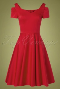 Bunny Helen Swing Dress Années 50 en Rouge Vif