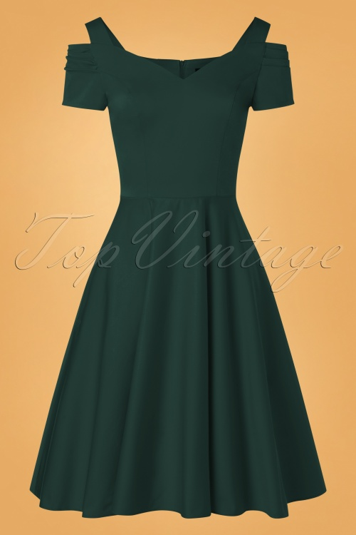Bunny 32479 Swingdress Dark Green Helene 11132019 010W