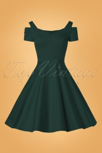 Bunny 32479 Swingdress Dark Green Helene 11132019 002W
