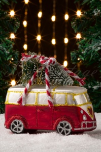 Sass&Belle 32657 Bauble Bus Red Camper Red Green Tree 20191111 006 W
