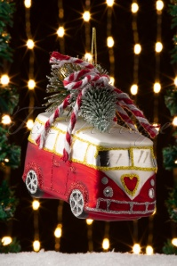 Sass&Belle 32657 Bauble Bus Red Camper Red Green Tree 20191111 005 W