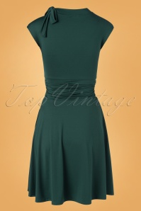 Retrolicious 32920 Swingdress Bombshell Green Bow 11132019 007W