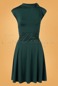 Retrolicious 32920 Swingdress Bombshell Green Bow 11132019 003W