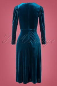 Closet 33078 Swingdress Velvet Blue 11142019 009W