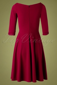 Vintage Chic 32675 Swindress Red Wine Plain 11182019 010W