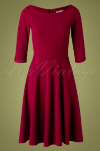 Vintage Chic for TopVintage 50s Lauriana Swing Dress in Wine