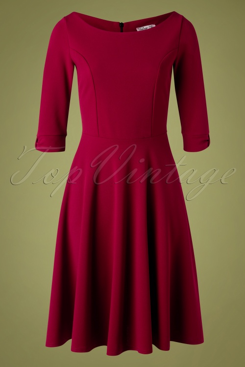 Vintage Chic 32675 Swindress Red Wine Plain 11182019 002W