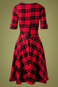 Unique Vintage 32275 Swindress Red Delores Checked 11182019 010W