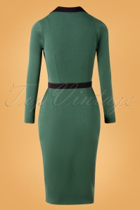 Miss Candyfloss 31031 Pencildress Emerald Black 11182019 008W