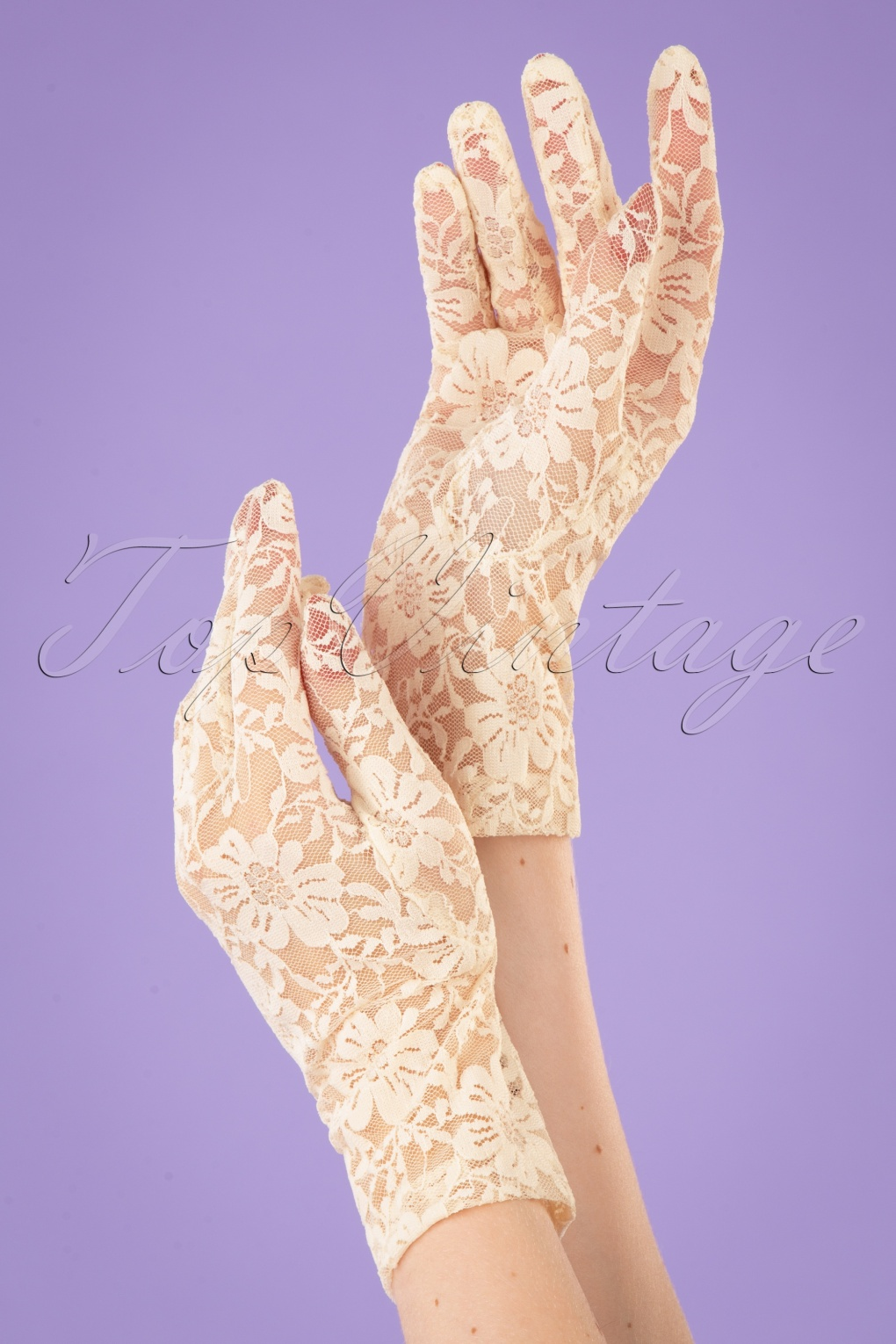 Vintage Style Gloves- Long, Wrist, Evening, Day, Leather, Lace 50s Lady Mary Lace Gloves in Capucine Cream £22.57 AT vintagedancer.com