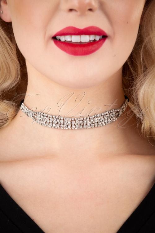 Darling Divine 31330 Necklace 20s Sparkle Black Choker 20191115 009W
