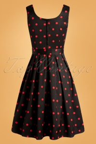 Dolly Dotty 32538 Swi8ngdress Black Red Dots 11192019 007W