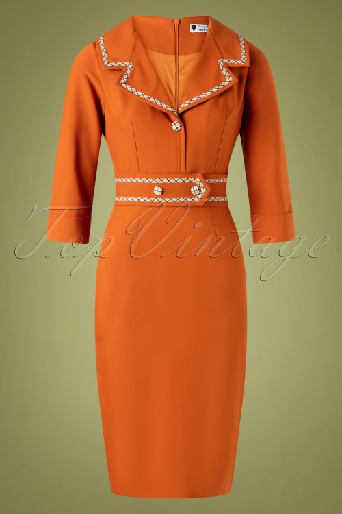 Daisy Dapper 32012 Pencildress Emma Orange 11192019 002W