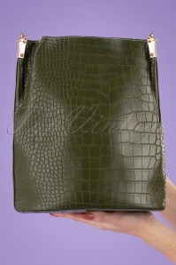 Louche 30107 Gallio Green Croc Bag 191115 007W
