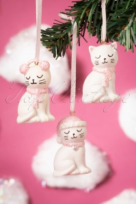 Sass&Belle 32672 Cat Hanging White Pink Christmas 191119 009 W