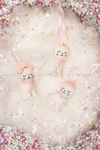 Sass&Belle 32672 Cat Hanging White Pink Christmas 191119 005 W