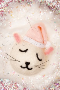 Sass&Belle 32674 Cat Hanging Felt White Pink Christmas 191119 004 W