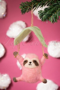 Sass&Belle 32673 Sloth Pink Leaf Christmas 191119 061 W