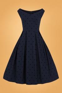 Collectif 29925 princess liz polka swing dress 20190415 021LW