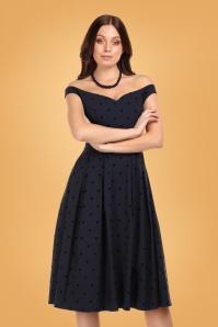 Collectif 29925 princess liz polka swing dress 20190415 020LW