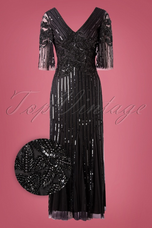 Gatsby Lady 32683 Maxidress Black Gatsby 20s Norma Pearls 11212019 005Z