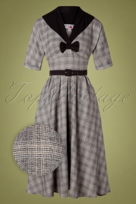 Miss Candyfloss 31028 Swingdress Tartan Grey 07172019 000002Z