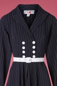 Miss Candyfloss 31043 Swingdress Navy Pinstripe 07172019 000005V
