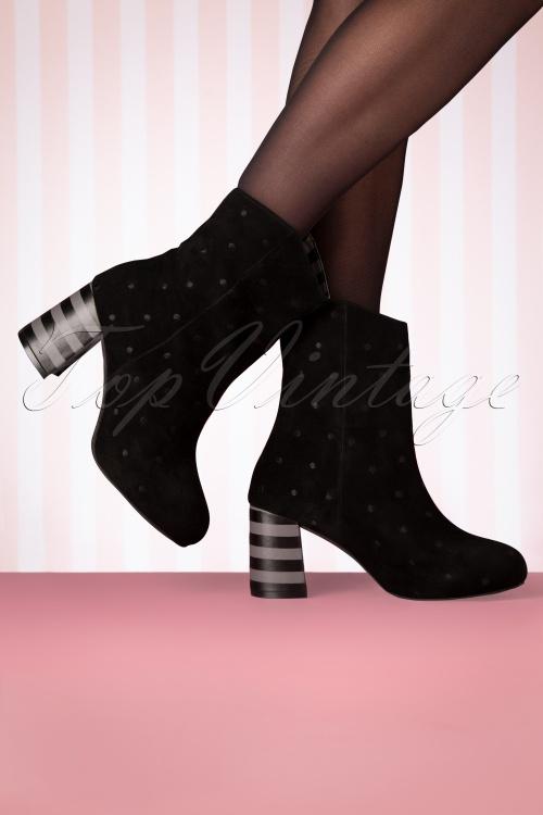 Lola Ramona 30276 Boot Black Polkadot Striped 191114 012 W