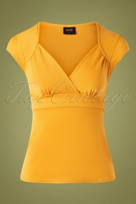 Steady Clothing 50s Classic Lush Top in Mustard