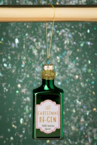 Sass&Belle 33195 Let Christmas Be Gin Bauble Green 191126 005