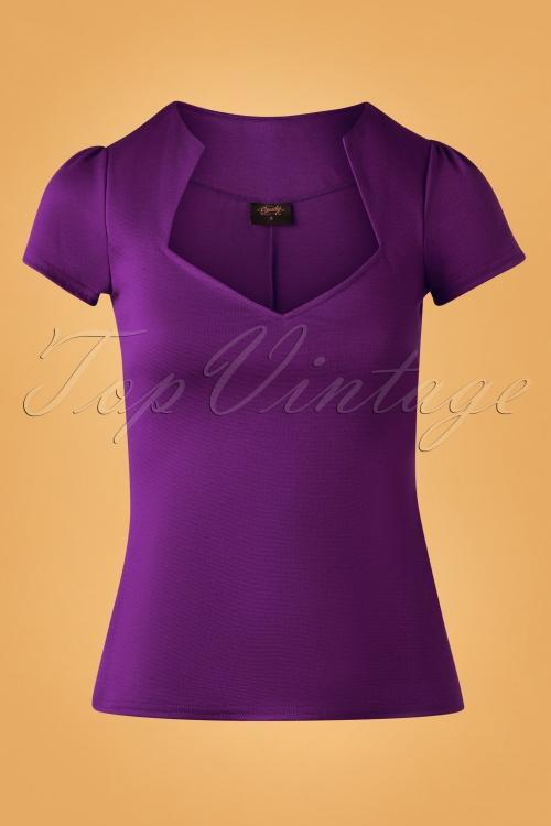 Steady Clothing 32089 Top Sophia Lila 11252019 003W