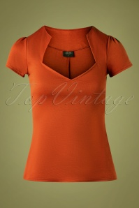 50s Sophia Top in Rust