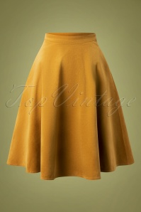Bright and Beautiful 70s Carrie Corduroy Skirt in Camel