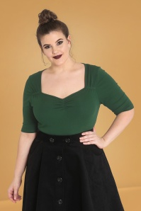 Bunny 30712 Philippa Top in Dark Green 20190705 020LW