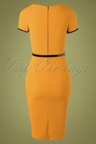 Vintage Chic 32951 Pencildress Yellow Black 11262019 010W