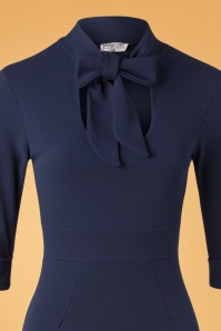Vintage Chic 32952 Pencildress Navy Ribbon 11262019 005V