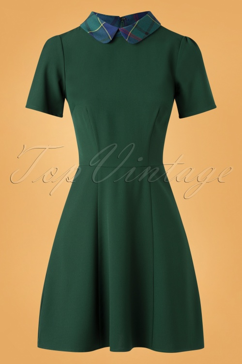 Bright Beautiful 30184 Swingdress Celeste Plain Green 11262019 002W