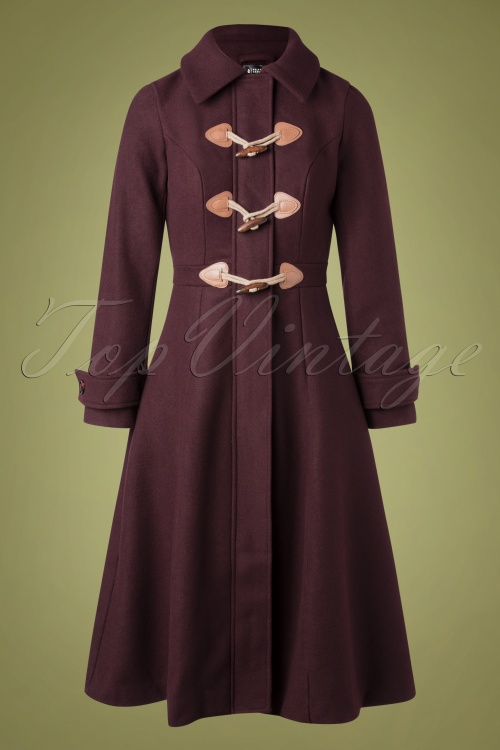 Bright Beautiful 30179 Coat Lenny Plain Aubergine 11262019 003W
