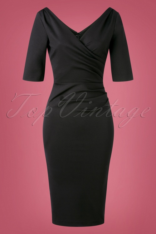 House Foxy 32317 Pencildress Black 50s Mansfield 11262019 004W