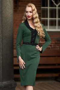 Miss Candyfloss 31031 Pencildress Emerald Black 11182019 020L