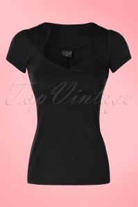 Steady Clothing Piped Sophia Tee In Black 111 10 10636 20151123 0003w