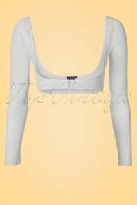 Long White Mesh Sleeves