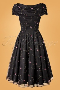 Collectif 29920 Swingdress Black Dorothy Roses 20191205 017W
