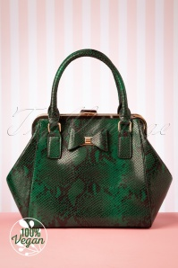 Lola Ramona 40s Molly Snake Bag in Green