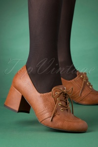 60s Cider Lace Up Brogues in Tan