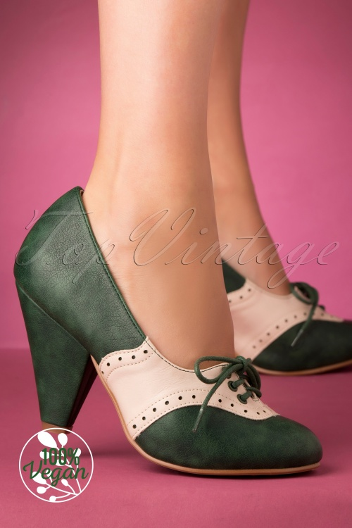 Bettie Page 29735 Carole Bootie Green White 20191010 004 W
