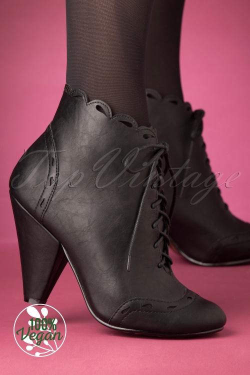 Bettie Page 30985 Black Heels Bootie 20191010 005 W