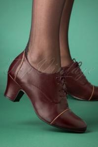 40s Felice Shoe Booties in Wine