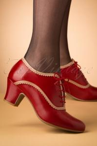40s Farren Shoe Booties in Red